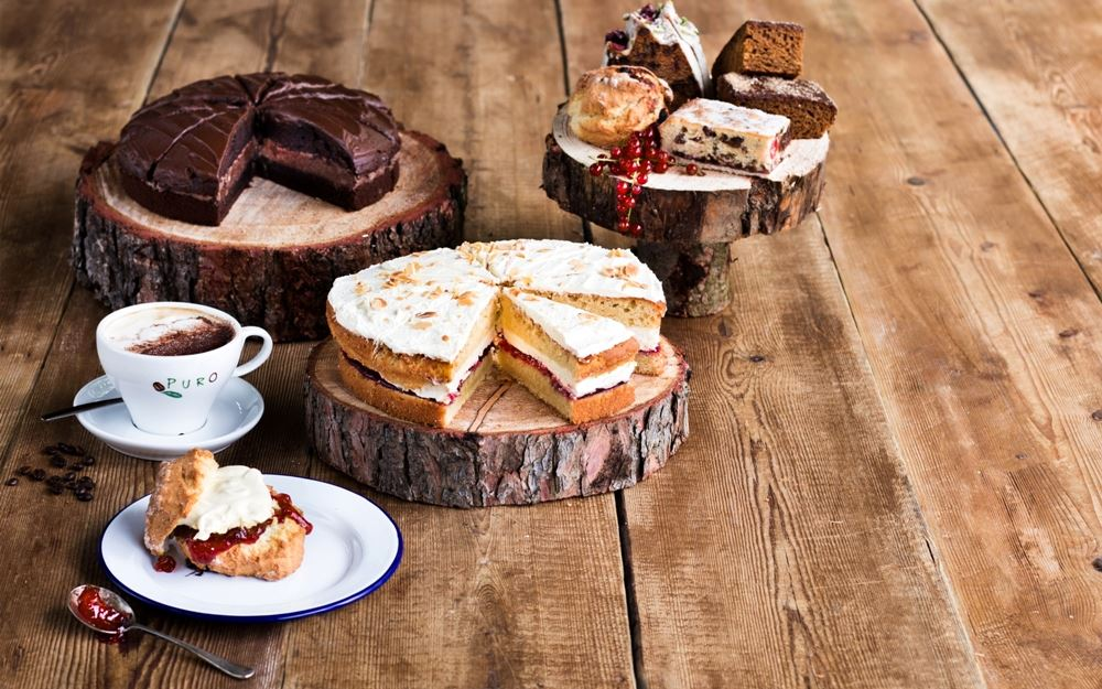 A selection of cakes available at The Coffee House